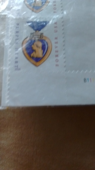 2 Brand new Forever Purple Heart Stamps