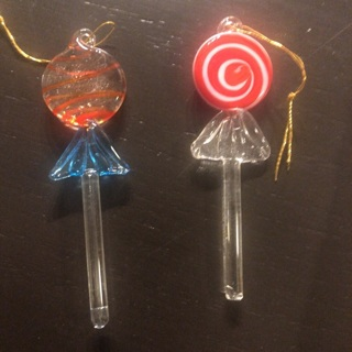 Glass lollipops