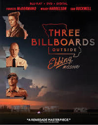 THREE BILLBOARDS OUTSIDE EBBING, MISSOURI DVD IN WHITE SLEEVE NEW RELEASE