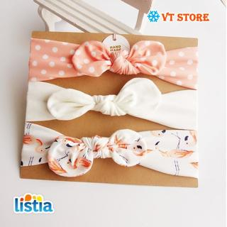 3Pcs Cute Rabbit Ear Baby Headband neonata bow flower Elastic Baby Girls Head bands Children Turban