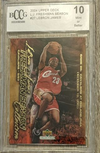 LEBRON JAMES ROOKIE CARD * BECKETT GRADED PERFECT 10