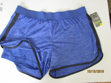 NWT- Blue 2 Layer DANSKIN Running Shorts - Sz L