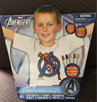 Avengers Color It T-Shirt Activity, Ages 4+