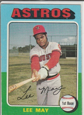 1975 TOPPS LEE MAY CARD