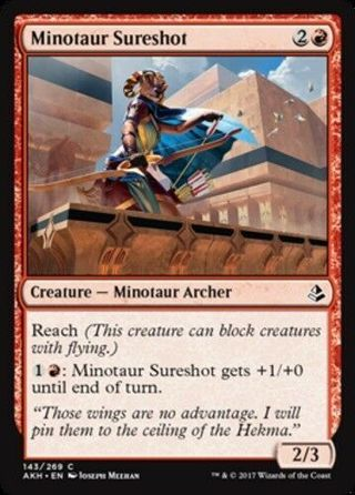 Minotaur Sureshot MTG Amonkhet NM Magic Regular