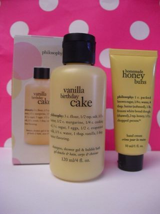 FREE PHILOSOPHY Vanilla Birthday Cake Homemade HONEY Buns Hand Cream