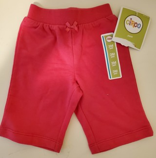 NEW - Circo - Girl's Pink Sweatpants - size 3 months