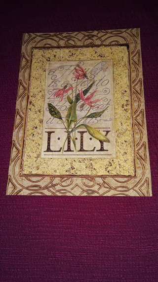 Notecard - LILY