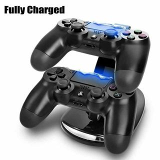 Portable Fast Charger Dock Station Dual USB Charging Stand for PS4-Controller