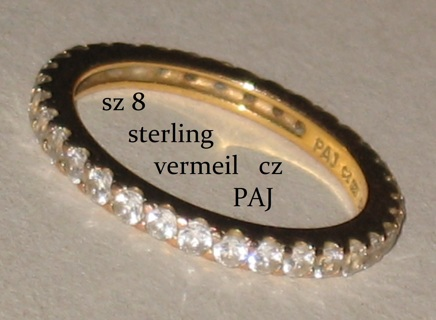 gold over sterling ring