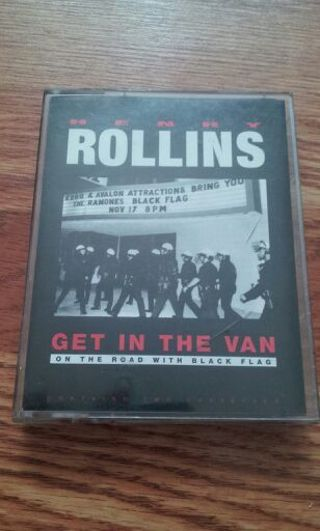 Henry Rollins - Get in the Van audiobook on cassette.GIN BONUS free shipping!