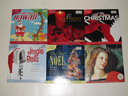 Lot of 6 CDs of Christmas Carols - Various Styles