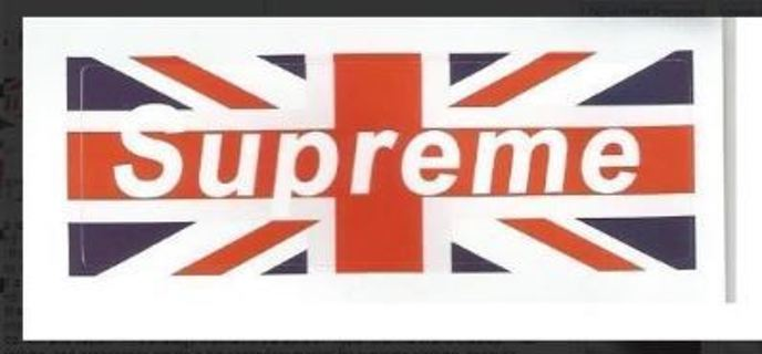 uk flag SUPREME Sticker FREE SHIPPING skate urban youth swag