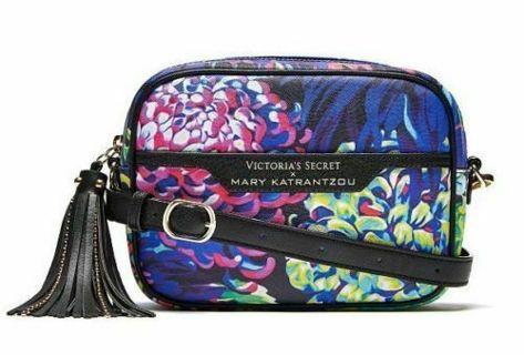 nwt VICTORIA'S SECRET X MARY KATRANTZOU FLORAL CONVERTIBLE CITY CROSSBODY BAG PURSE free shipping