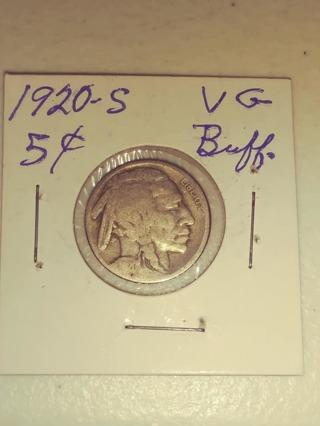 1920-S Buffalo Nickel! (Great Date!) 90