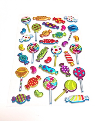 Puffy 3d candy stickers