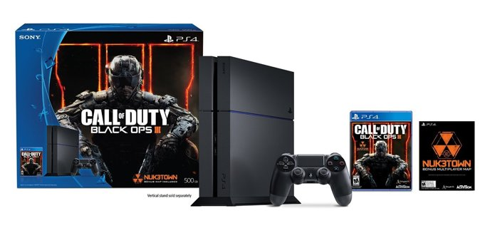 New! Sony PlayStation 4 500GB Bundle with Call of Duty Black Ops III - Black