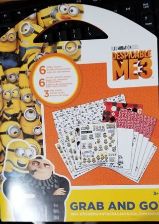 Despicable ME 3 Sticker Grab and Go Booklet
