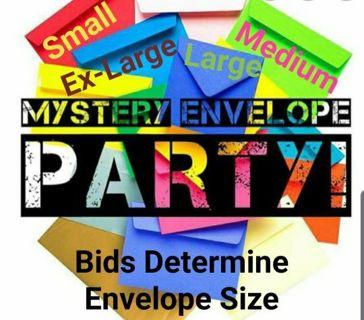 ■ Mystery Envelope Bid Party ■ ● Stuffed full of goodies ● 0.01 Start Bid
