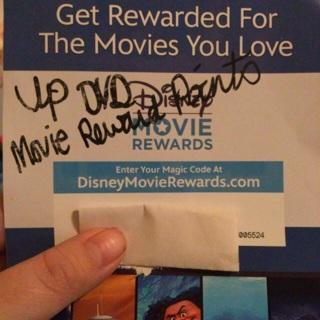 Disney Movie Rewards for Up