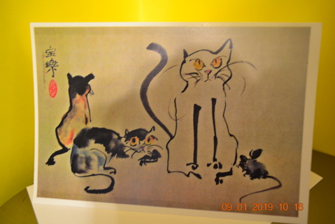 """****""""CATS AND MOUSE"""" BLANK CARD W/ENVELOPE***FREE SHIPPING"""