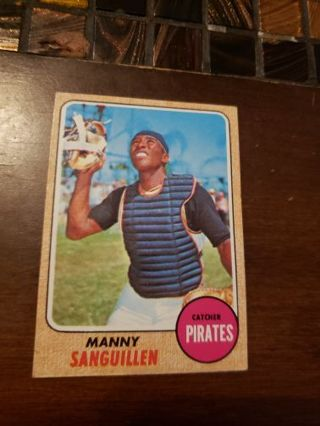 1968 Manny Sanguillen Pittsburgh pirates vintage baseball card