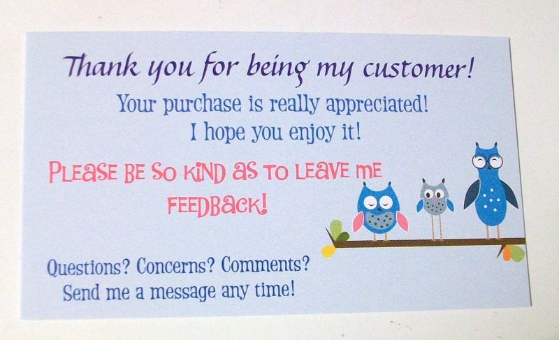 Free: 5 Thank you business cards for sellers! Good for any ...