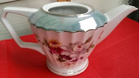 Free: Exquisite Vintage NORLEANS TEA POT MADE IN JAPAN,MULTI FLOWERS ...