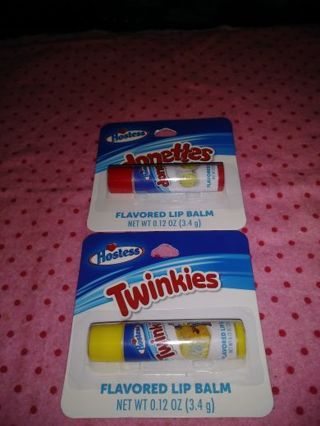 ❤✨❤✨❤️2 BRAND NEW HOSTESS FLAVORED LIP BALMS❤✨❤✨❤(DONETTES & TWINKIES) FLAVORED(ONLY SET!)