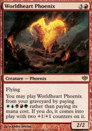Worldheart Phoenix RARE - Magic The Gathering mtg MINT