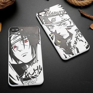 For iPhone XS Max 8 6 7 Relief Naruto Sasuke Kakashi Rubber Soft Back Case Cover