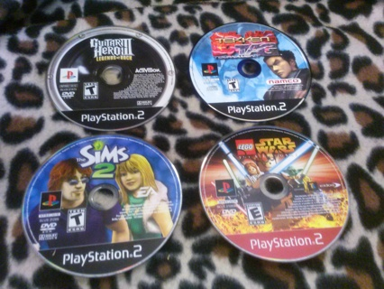 Four PS2 PlayStation 2 Game You Pick ~Winner Takes All w/ GIN Lego Star Wars SIMS Tekken Guitar Hero