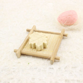 2Pcs Natural Bamboo Wood Bathroom Shower Soap Tray Dish Storage Holder Plate