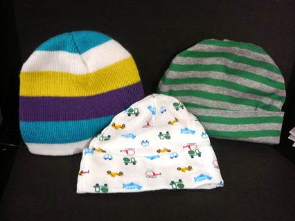 3 New or barely worn Baby Boy Hats