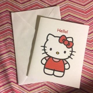 Sanrio Hello Kitty Blank Note Card w/Envelope ~ HELLO! ~ NEW!