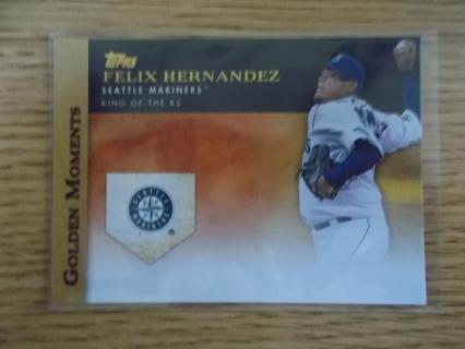 FELIX HERNANDEZ (Mariners) 2012 Topps GOLDEN MOMENTS