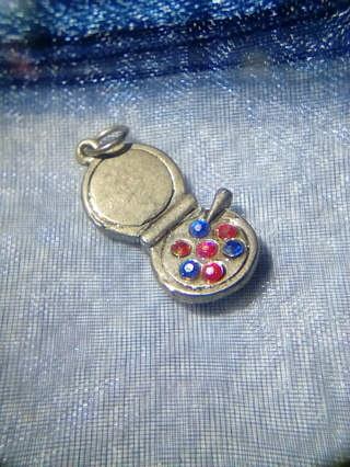 Makeup Charm in Blue Bag