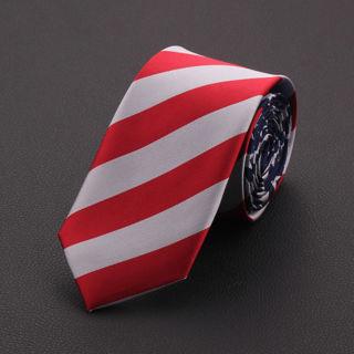 New Fashion Men 7cm American US Flag Elements Neck Tie Stars And Stripes Necktie