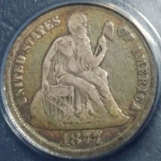 "1877 Seated Liberty Dime ANACS ""GOOD 4"""