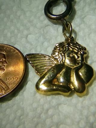 Vintage, Looking Up Angel Charm