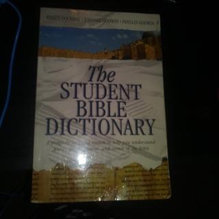 The Student Bible Dictionary Karen Dockrey