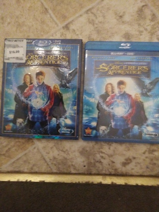 The Sorcerers' Apprentice Blu-Ray & DVD w/ slipcover.