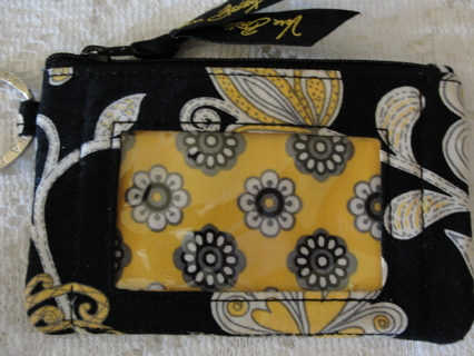 "Vera Bradley ""Yellow Bird"" Zip Id Case, NWOT"