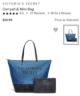 Free: Victoria's Secret CARRY ALL TOTE With matching