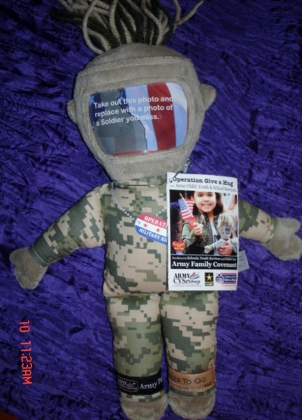 Free Army Kids Hugs To Go Plush Doll Military Family New