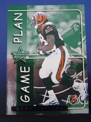 "1999 Leaf Rookies & Stars ""Game Plan"" Corey Dillon (Bengals) S/N #1018/2500"