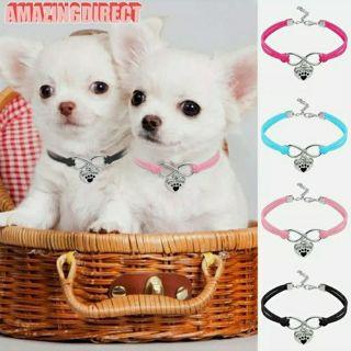 Pet Collar Dogs Necklace Adjustable Heart Shape Pendant Puppy Pet Accessories