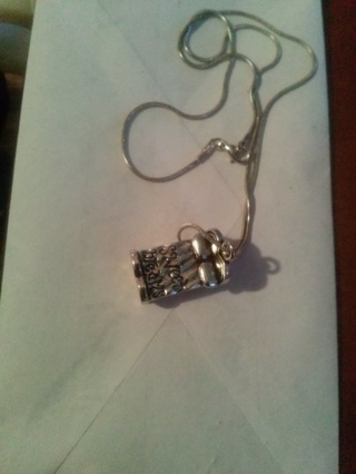 Sweet Dreams Bed Charm Necklace / Gin Gets Same Charm On Hemp Rope
