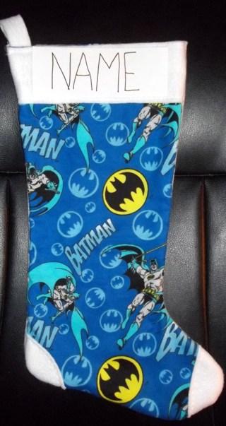 new personalized batman christmas stocking