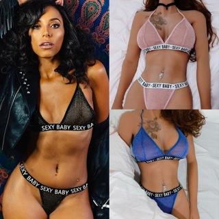 Women Sexy Lingerie Bra Push Up G-string Babydoll Erotic Underwear Sleepwear Set